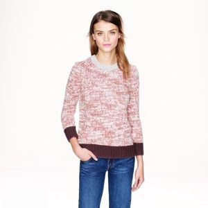JCREW MARLED COLORBLOCK WOOL SWEATER SIZE XS